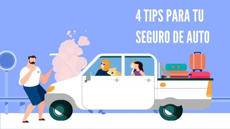 4 Tips que no puedes olvidar al contratar el Seguro de tu Auto